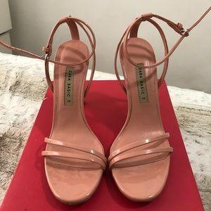 Zara nude pinkish heels